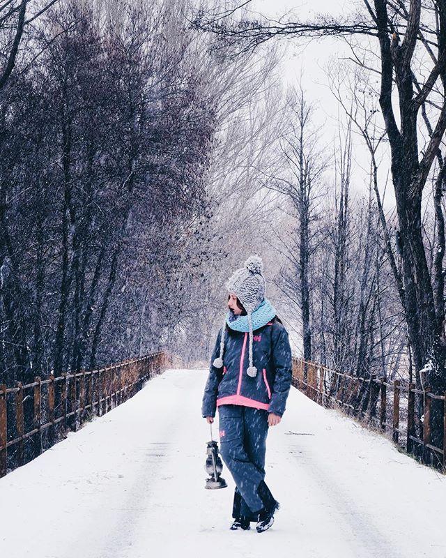Tardes en slow mode passejant sota la neu...
