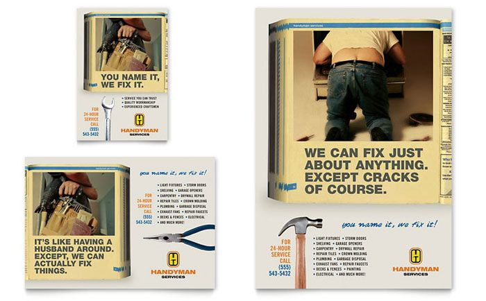 Home Repair Services Flyer and Ad Template Design by StockLayouts