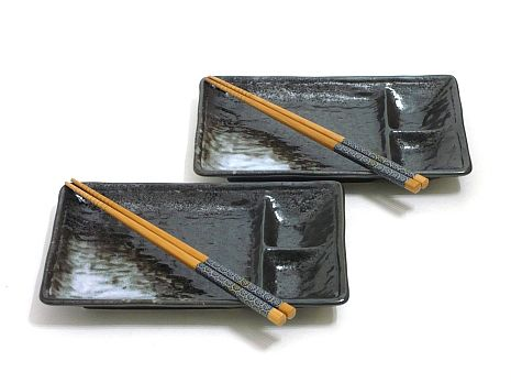 Wishlist:  Black Ice Sushi Set for Two