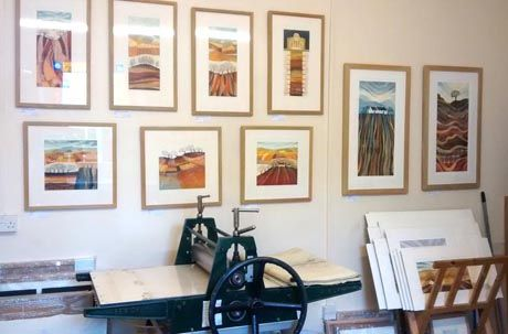 Rebecca Vincent Artist, Northumberland landscapes, etchings, monotypes, giclee prints, greetings cards