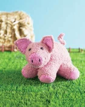 Piglet Toy Free Knitting Pattern