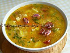 Суп с фасолью и копчёными колбасками / Gurmel