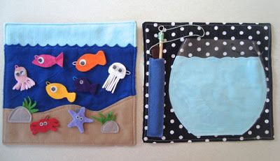 Felt fishing game - mousehouse: 'My creative space' Busy Book Pages (+ a tutorial)