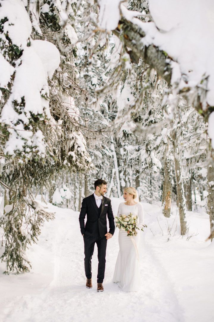 Fairmont Chateau Lake Louise Marriage ceremony | Banff Winter Marriage ceremony | Images by Cor…