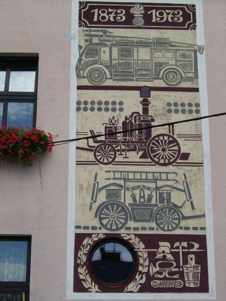 Beskid Śląski - Skoczów - budynek Ochotniczej Straży Pożarnej / Silesia Beskid - Skoczów - building Volunteer Fire Department, Poland