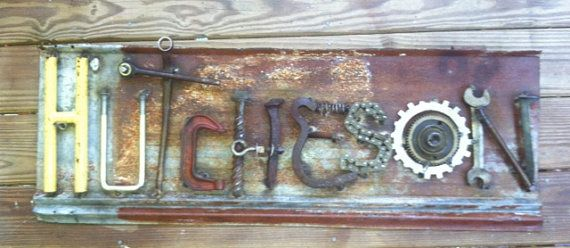 Custom Made Signs from Recycled Car Parts and by TheRustRefinery