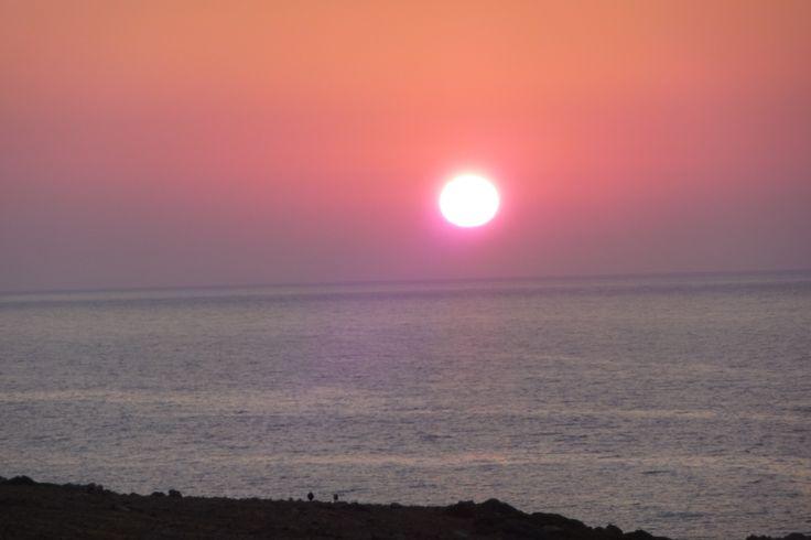 #crete #rethymno #greece #sunset