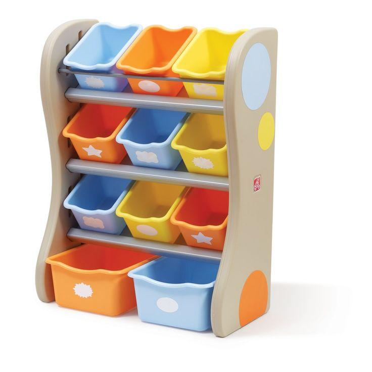 Amazon.com: Step2 Fun Time Room Organizer Bins, Tropical: Toys & Games