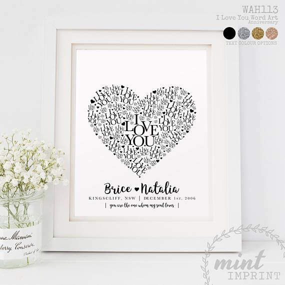 Wedding Day Gift Personalised Print Wedding Location Date Names