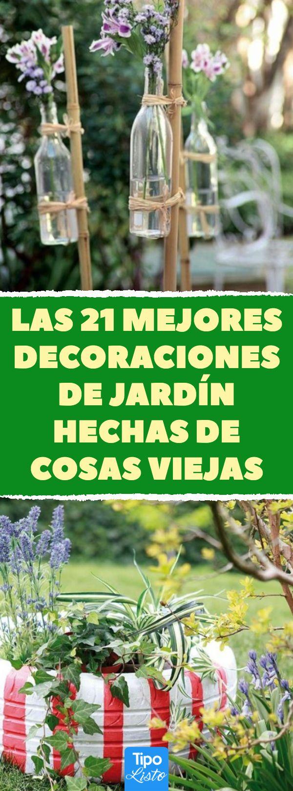 Las 21 mejores decoraciones de jardín hechas de cosas viejas 21 ideas de recicl…