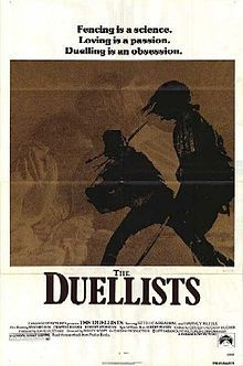 Ridley Scott's first movie was The Duellists and it is still one of his best..  Keith Carradine and Harvey Keitel based on a story by Joseph Conrad and produced by David Puttnam, with Albert Finney, Edward Fox and Tom Conti in supporting roles.  How do you score that for your first time out?