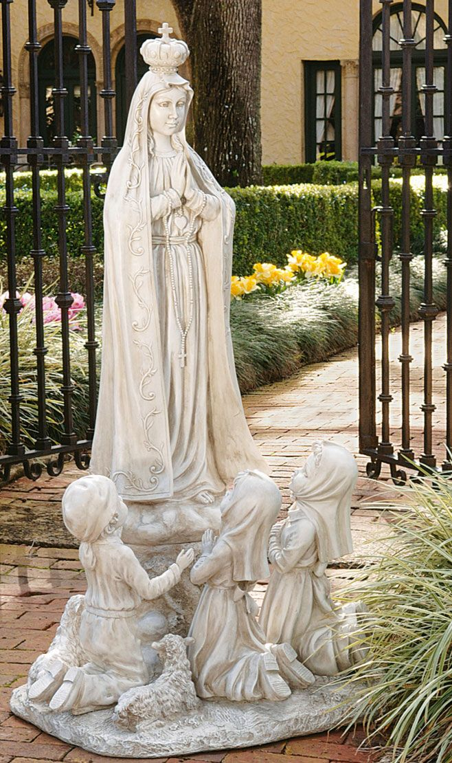 Our Lady Of Fatima Statue X X   Arrives In 6 Pieces And Simple Assembly Is  Required. Find This Pin And More On Catholic Garden Statues ...