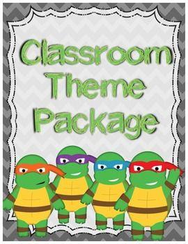 Classroom Theme Bundle: Turtle Ninjas