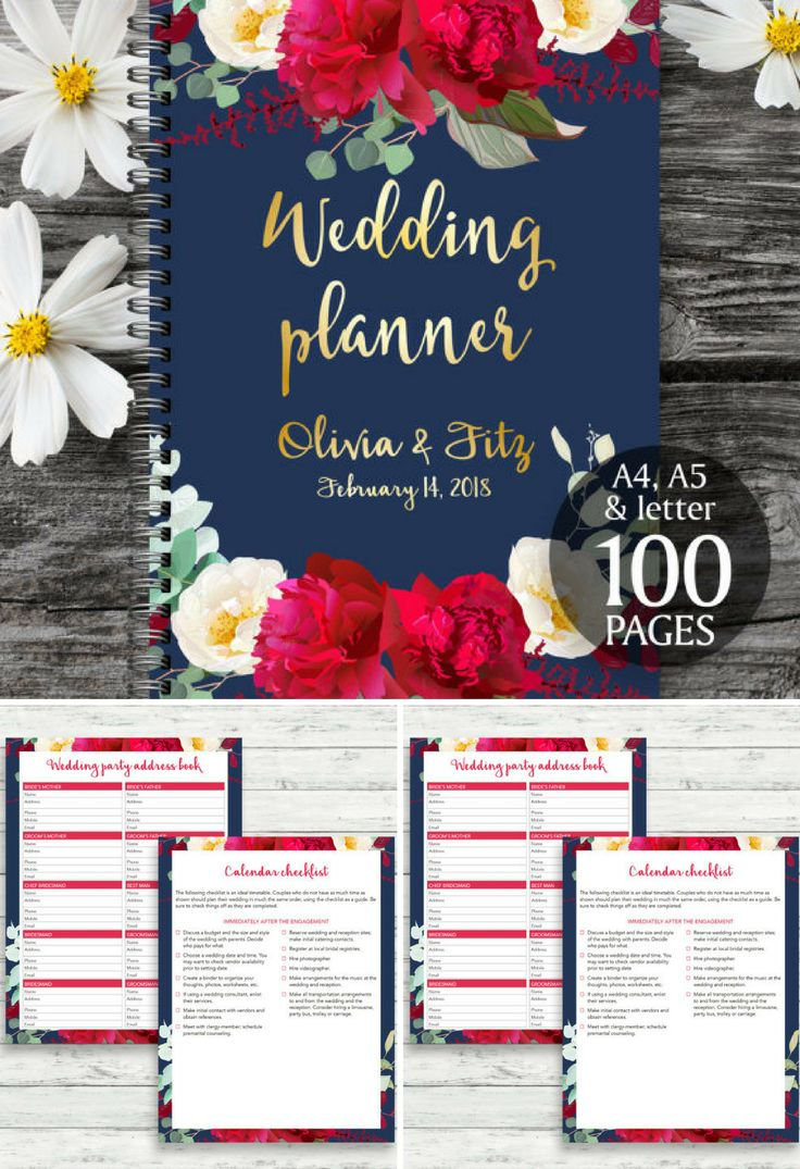 wedding planning checklist spreadsheet free%0A Printable wedding planner  Wedding planner book  DIY wedding guide  PDF  wedding kit