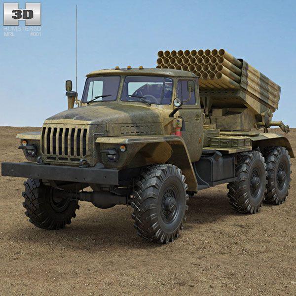 BM-21 Grad 3d model from Humster3D.com