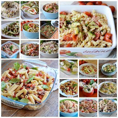 Primi piatti freddi estivi,tante idee veloci per i vostri pranzi o cene,ricette imperdibili!!Tante proposte,molte anche originali!!