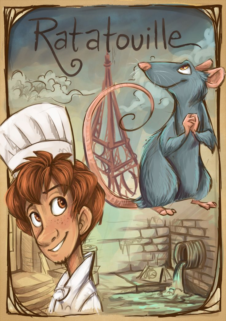 Ratatouille by sharpie91.deviantart.com on @deviantART; One of my all time favourite Disney / Pixar movies, the whole thing is amazing <3 <3 <3