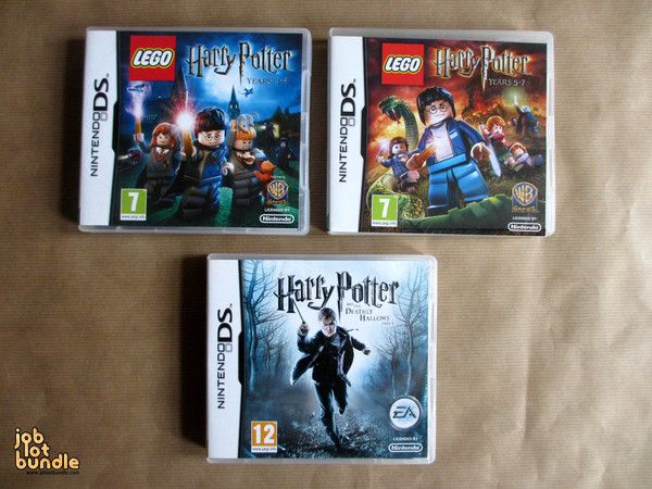 Lego Harry Potter Nintendo DS Games Bundle - joblotbundle.com http://www.joblotbundle.com/collections/video-games/products/harry-potter-lego-nintendo-ds-game-bundle-collection-x-3