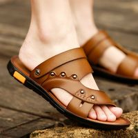 Tidog 2016 new men's sandals summer beach shoes slip Korean sandals summer leisure male sandals