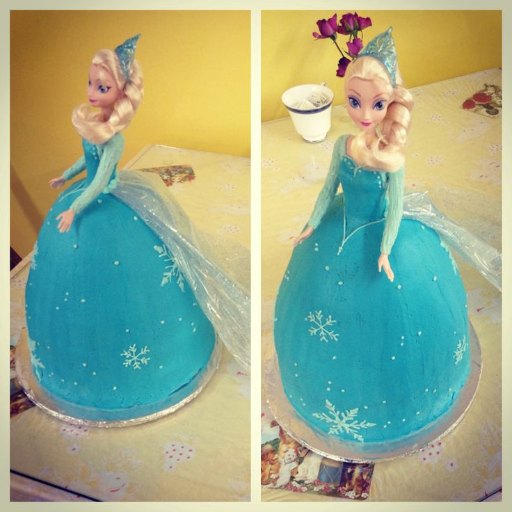 Frozen Barbie Cake Design : Elsa from frozen Barbie cake! Decorating Pinterest