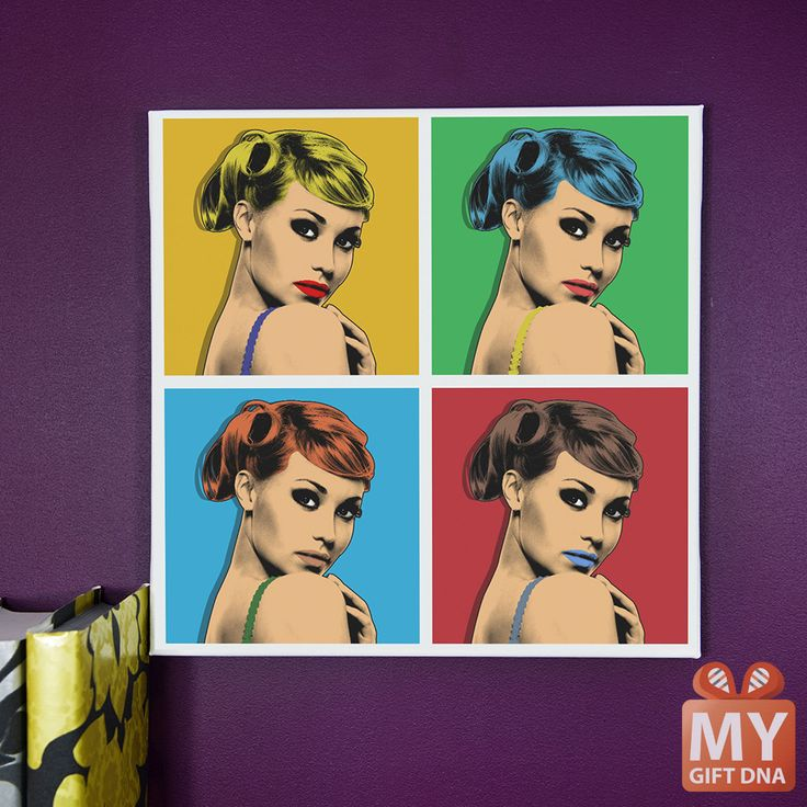 Warhol style canvas. This is how you chan change your photo in MyGiftDNA. #mygiftdna #canvas #gift #personalised