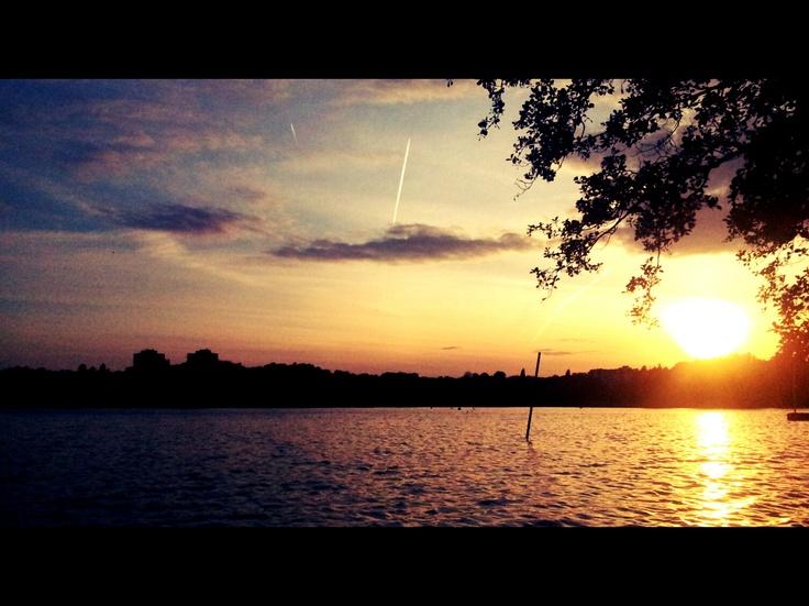Sunset at Wimbledon Park