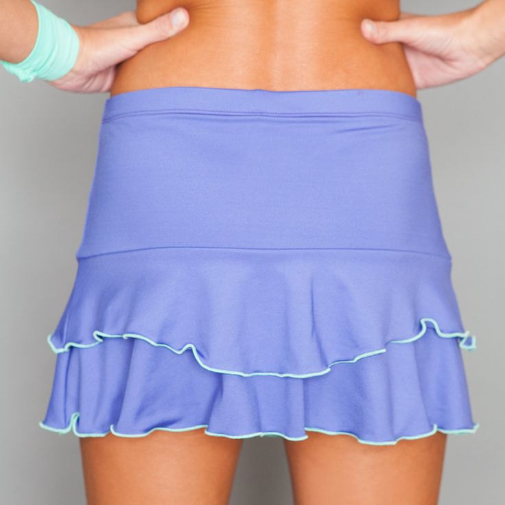 Ruffle Skort by Denise Cronwall, Denise Cronwall Activewear Riviera Collection, #activewear, #tennis, #fitness, #workout, #apparel, #style, #fashion, #unique, #boutique, #training, #pants, #bra, #top, #designer, #skort, #skirt, #geocollection, #athleisure, #short