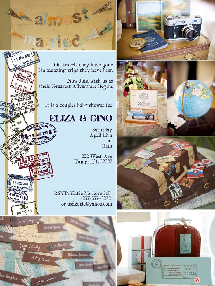travel themed shower around the world party pinterest With travel themed wedding shower