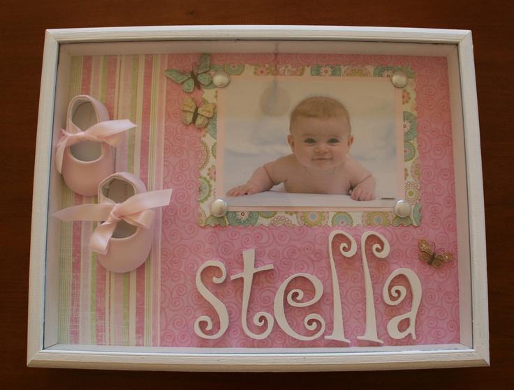 Baby Girl Shadow Box. $65.00, via Etsy.
