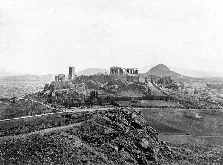 1860 ~ The Acropolis of Athens (photo by Francis Frith)