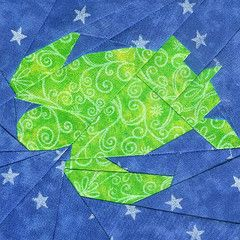 Paper Piecing Sea Turtle one of several 100% free printable PDF patterns on this site