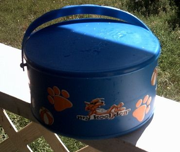 great way to carry cool water for pets when you are out and about ...
