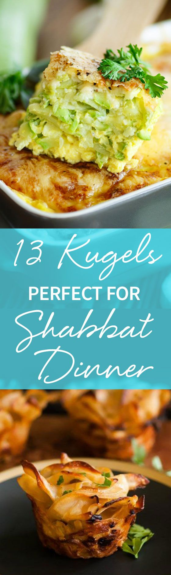 Kugels are great because they can be made ahead, frozen for long periods of time, and reheated--making them the perfect Shabbat side dish! Read on and try any of these 13 recipes! http://www.joyofkosher.com/.preview/cn01faca2070002546?auth=c9a9de647b32bb5f273def126f111e0d7905fd0b&nonce=1478546308593