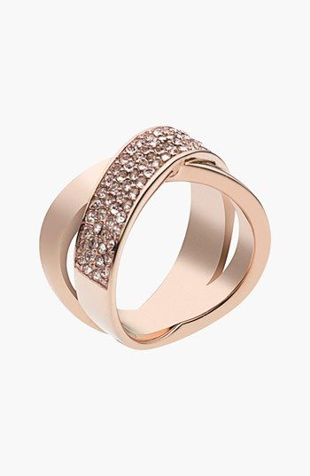 Michael Kors 'Brilliance' Crisscross #Ring rose gold