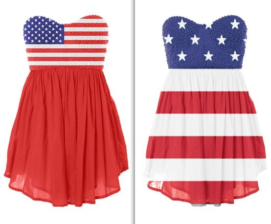 American flag dress--perfect for the Fourth of July or WeFest