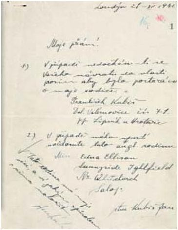 Jan Kubis's last will and Testament This Day in History: Operation Anthropoid http://dingeengoete.blogspot.com/