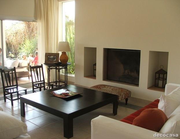 Estufa a le a muy minimalista en livin decoracion de for Estufa hogar moderna
