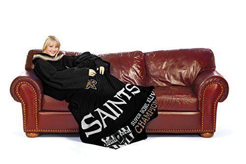 New Orleans Saints Super Bowl Huddler Snuggie Wrap Cold Weather 100% Polyester #Northwest #NewOrleansSaints Sold $16.99