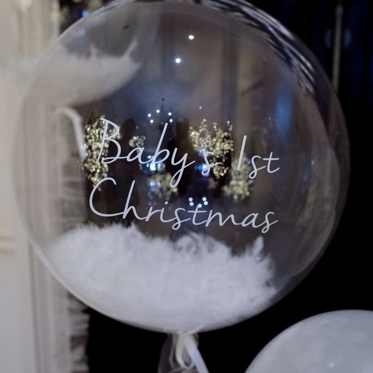 Image result for baby's first christmas balloons