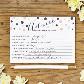 Marriage Advice Cards Pack Of 10 Cards