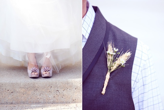 i like the buttonhole idea for the men - understated, and more masculine