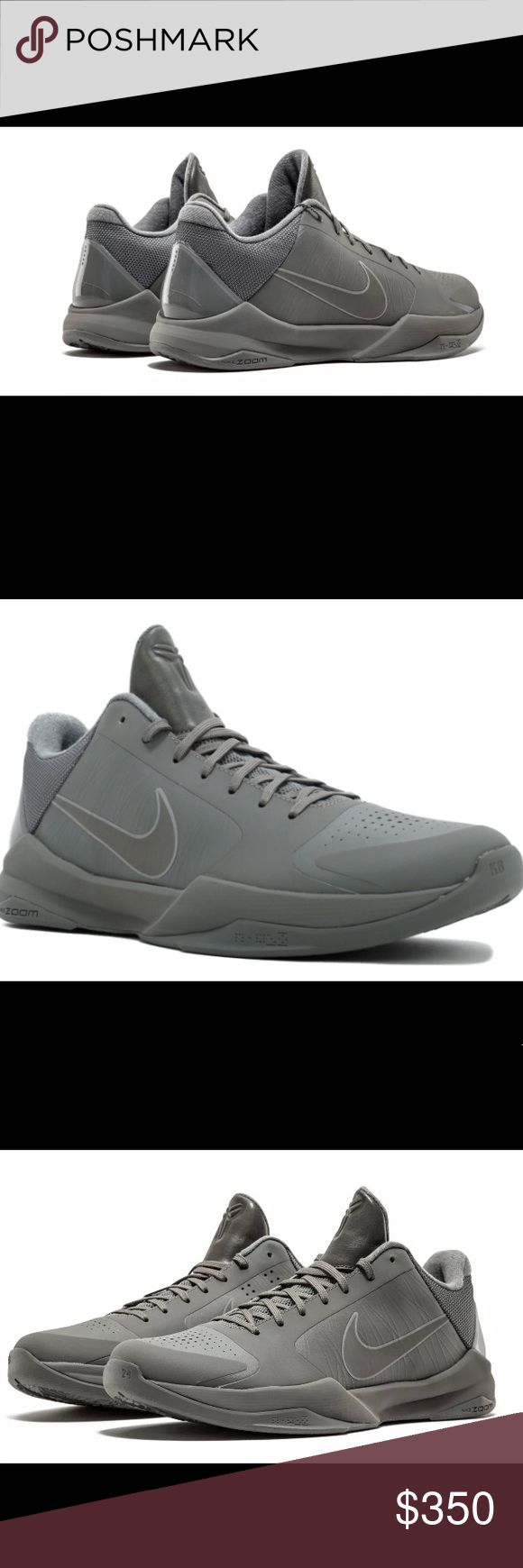 "Kobe 5 FTB ""Fade to Black"" size 17 Brand new, super rare Kobe 5 FTB. Gray in color size 17 Nike Shoes Athletic Shoes"
