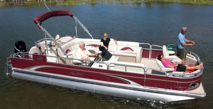 The Avalon A Fish—Enjoy a livewell and rod holders along with lots of storage in this fishing pontoon boat that has plenty of room and fishing power! #avalonpontoons #pontoonboats #fishing