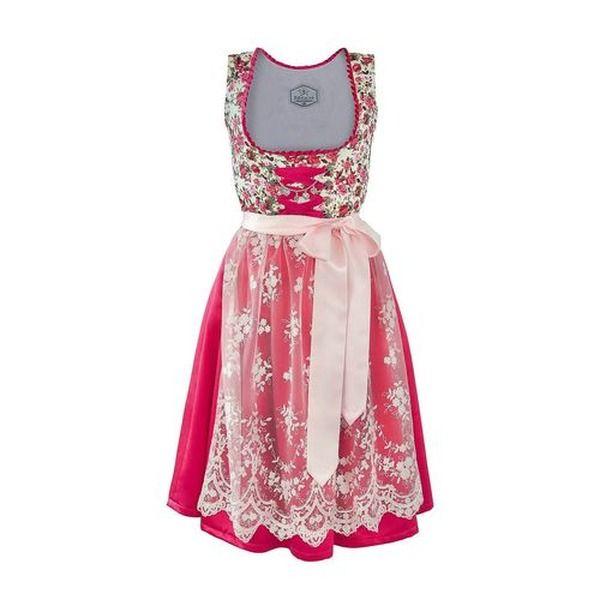 Edelnice Made in Germany Dirndl pink Rosen, 34