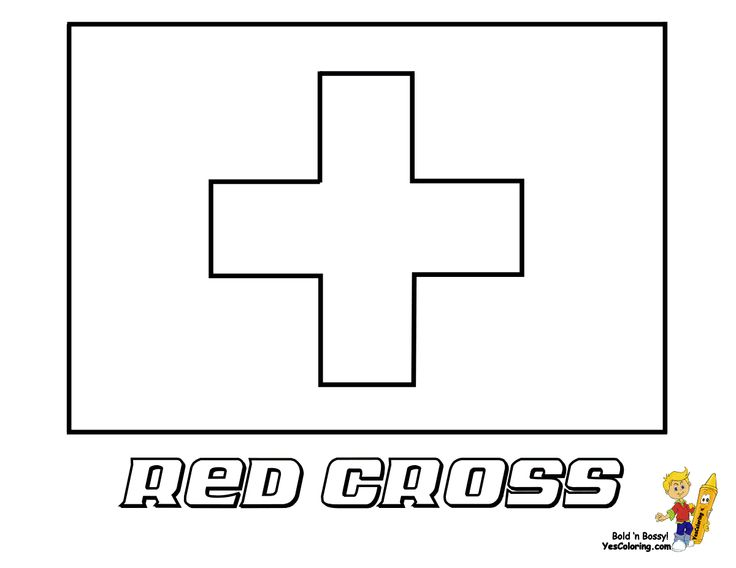 Red Cross Flag Coloring Page You Have All 195 International Flags To Color