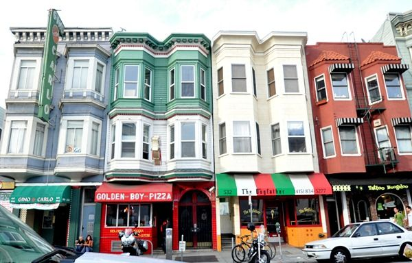 North Beach, San Francisco. The Italian neighborhood. What was the first clue? Serious Italian pride going on here.
