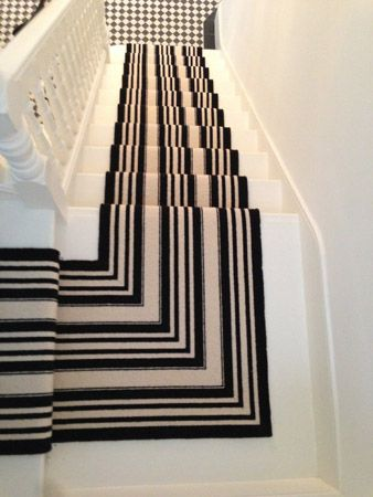 Stair Carpet Runner Sisal Gold Striped Border Carpet
