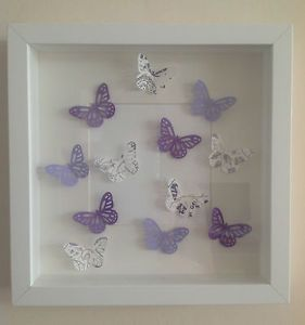 Butterfly cut box frame picture