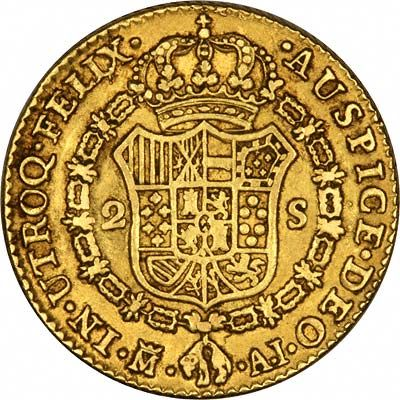 Spanish 2 Scudi Gold Coins - Doubloons