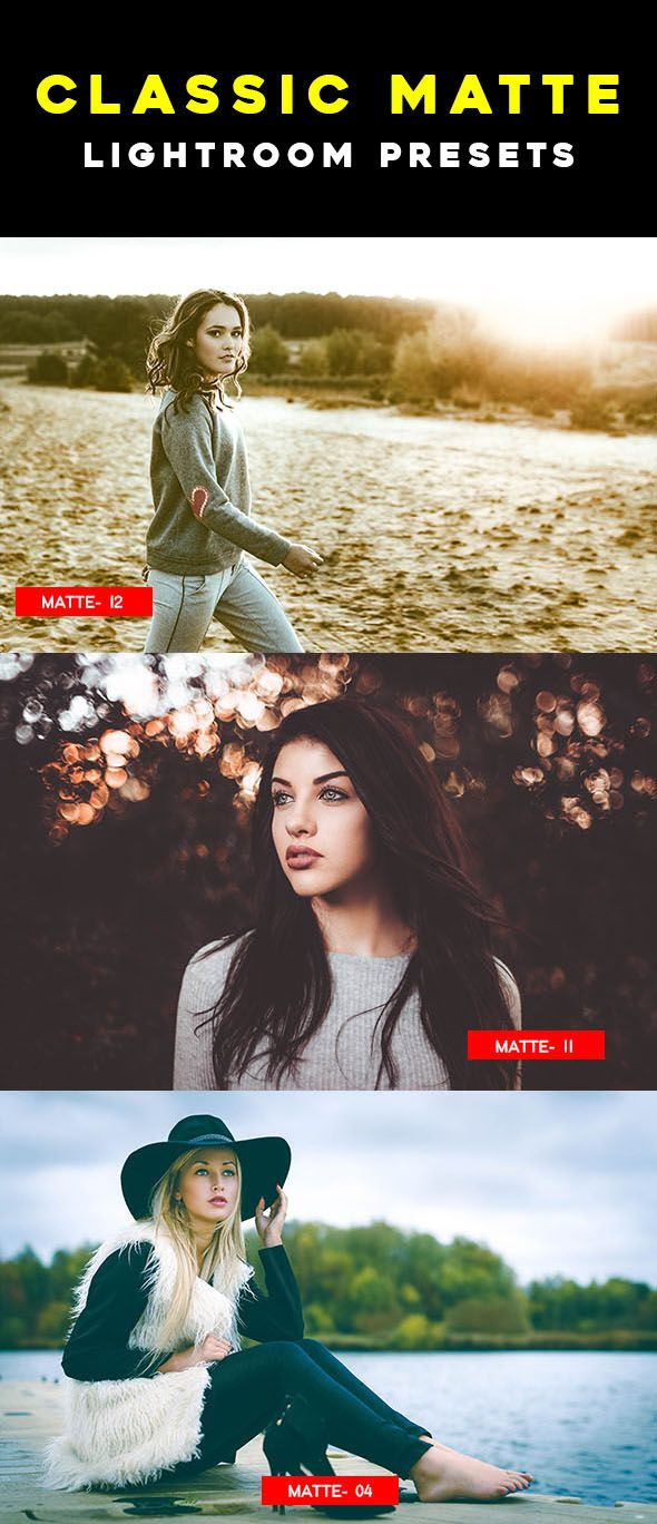 Classic Matte Lightroom Presets is the pack of professional Lightroom Presets perfect for new and old photographers and graphic designers. All they have been created with precise calibration adjustments and clean arrangement to bring your images to life using powerful tools & professional methods.